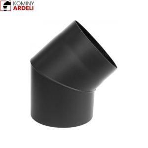 Kolano 45* Czarne Sztywne Żaroodporne 2,0 Mm Fi 130