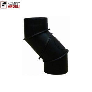 Kolano Uniwersalne Regulowane Wyczystne Czarne Żaroodporne 2,0 Mm Fi 130