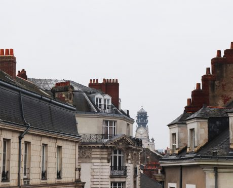 dachy w mieście